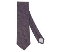 Krawatte ' Custom Fit ' aubergine
