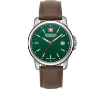 Uhr braun / silber / grün
