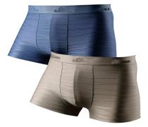 Boxer (2 Stck.) blau / grau