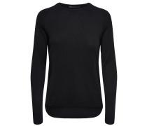Lockerer Pullover schwarz