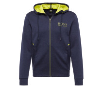 Sweatjacke 'Saggy' navy / gelb