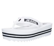 Slipper 'denim MID Beach Sandal' weiß
