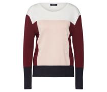 Pullover 'colorblock' navy / rosa / burgunder