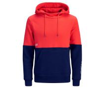 Sweatshirt blau / orangerot