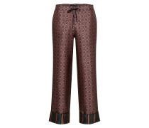 Hose 'Structured wide leg pyjama pants with contrast stripe at hem'