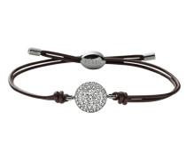 Armband dunkelbraun / silber