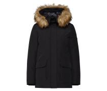 Mantel 'cappotto Cappuccio' schwarz