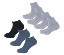 Kurzsocken blau / hellgrau / schwarz