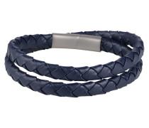Blaues Leder-Armband blau