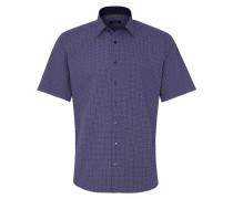 Kurzarm Hemd 'modern Fit' blau / rot