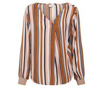 Bluse braun / grau / pastellpink / perlweiß