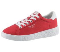 Plateausneaker rot / weiß