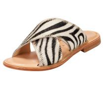 Sandale 'Ana' schwarz / weiß