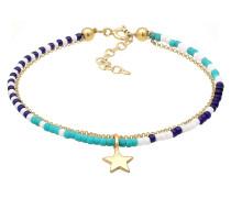 Armband navy / türkis / gold / weiß