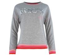 Sweater ' Vegas ' graumeliert / pink