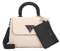 Handtasche 'Aretha' beige / schwarz