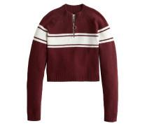 Sweatshirt 'mock Neck Sweater' burgunder
