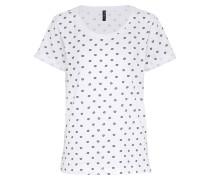 T-shirt 'Monalisa' schwarz / weiß