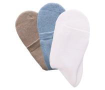Socken hellblau / oliv / weiß
