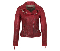 Lederjacke 'New Love' rot