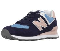 Sneaker 'wl574' navy / hellblau / rosa