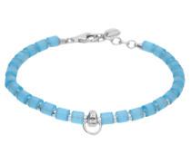 Charm-Armband blau / silber