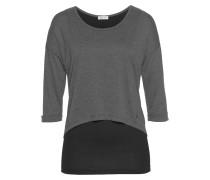 2-in-1-Shirt graumeliert