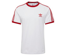 T-Shirt '3-Stripes' rot / weiß