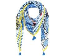 Tuch blau / gelb / weiß