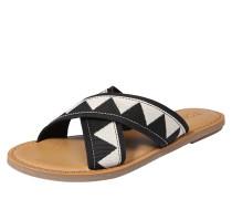Sandale 'viv' schwarz / weiß