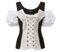 Shirt 'April' schwarz / weiß