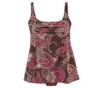 Badeanzug-Kleid braun / mischfarben