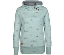 Sweatshirt pastellblau / schwarz