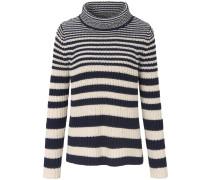 Pullover creme / kobaltblau