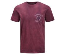 Logoprint T-Shirt bordeaux