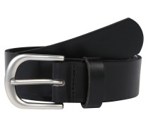 Ledergürtel für Jeans 'pcfunda' schwarz