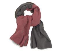 Modeschal basaltgrau / rot