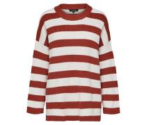 Pullover rot / weißmeliert