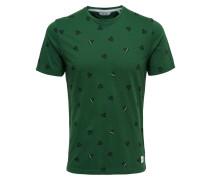 T-Shirt dunkelgrün / schwarz