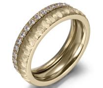 Ring-Set gold / transparent
