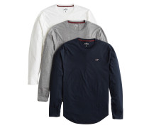 Shirts grau / schwarz / weiß
