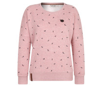 Sweater 'Afterhour' rosa / pinkmeliert