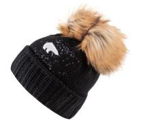 Bommelmütze 'Laureen Lux' schwarz