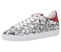 Sneaker rot / schwarz / silber / weiß