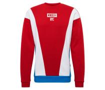Sweatshirt 'Spade' blau / rot / weiß