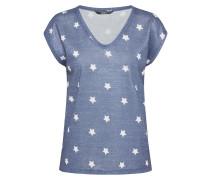 Shirt mit Sternen blau / weiß
