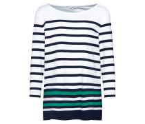 Shirt nachtblau / grün / weiß