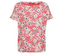 T-Shirt hellrot / weiß