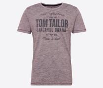 T-Shirt dunkelgrau / helllila