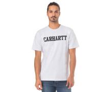 College T-Shirt weiß